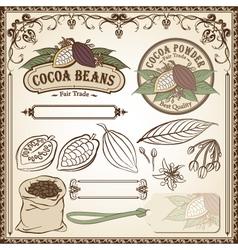 cocoa fair trade set vector image vector image