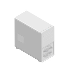 Computer chassis detailed isometric icon vector image
