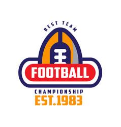 football championship best team est 1983 logo vector image
