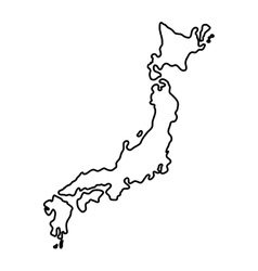 Japan country map vector image
