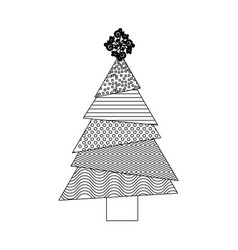 monochrome background with abstract christmas tree vector image vector image