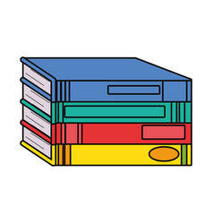 pile of books design vector image