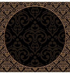 seamless baroque damask luxury border vector image vector image