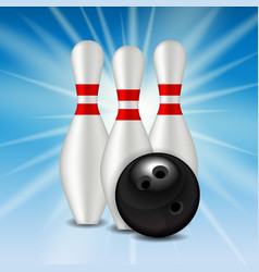 Skittles and Bowling Ball Background vector image vector image
