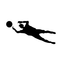 Soccer goalkeeper silhouette vector image vector image