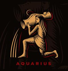A aquarius zodiac sign vector