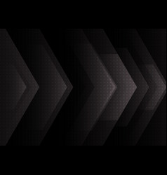 Abstract black and gray arrow overlap background vector
