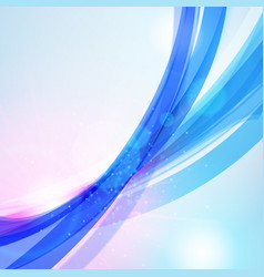 Abstract blue wave background for poster flyer vector