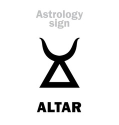 Astrology altar vector