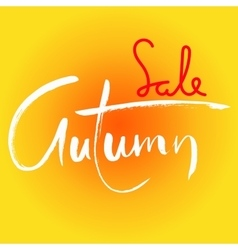 Autumn Sale Lettering for banners season sale vector image