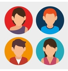 avatars people design vector image