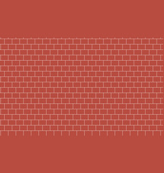 Background texture of red brick wall stretcher bo vector