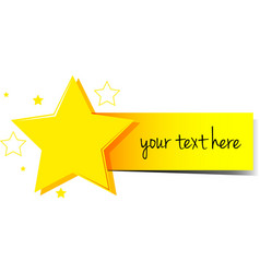 Banner design with stars and yellow tag vector image