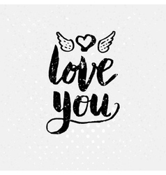 Black Love You Text on light Background vector