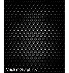 Black speaker grill metal background vector image