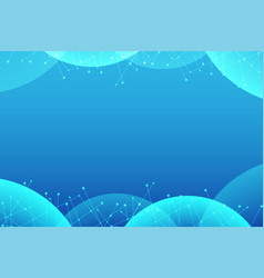 blue abstract with line dot background vector image