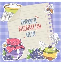 Blueberry jam poster vector