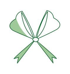 bow ribbon decoration christmas celebration vector image