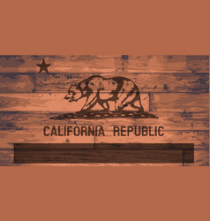 California flag brand vector