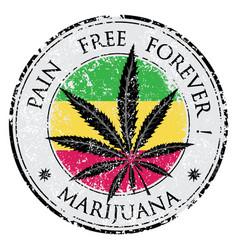 Cannabis or marijuana leaf grunge design vector