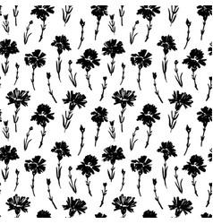 carnation flower seamless pattern vector image