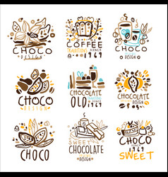 Chocolate traditions colorful graphic design vector