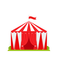 Circus tent carnival red marquee flat design vector