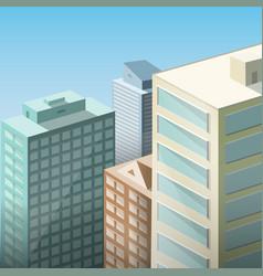 city landscape megapolis three-dimensional view vector image