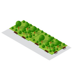 Cityscape design elements with isometric garden vector