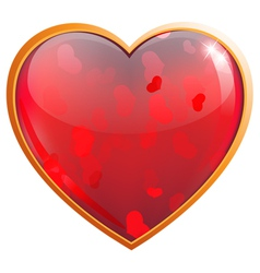 Clear sparkling heart vector