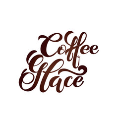 coffee glace logo handwritten lettering design vector image