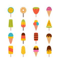 collection tasty ice cream set ice cream vector image