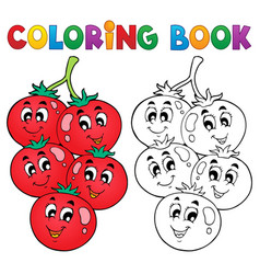 Coloring book vegetable theme 3 vector