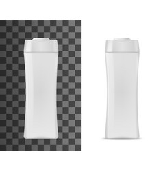 cosmetic package 3d realistic plastic bottle vector image