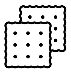 Cracker icon outline style vector