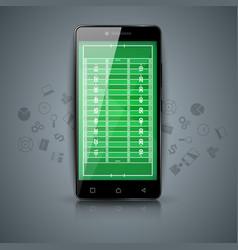 digital gadget smartphone sport american vector image