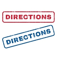 Directions Rubber Stamps vector