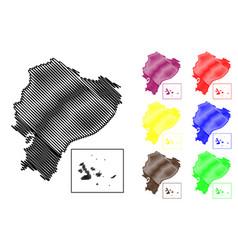 ecuador map vector image