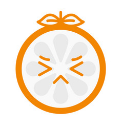 Emoji - crying orange isolated vector