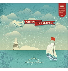 Enjoy the summer holidays Welcome to Paradise vector
