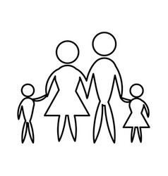Family pictogram father mother and son vector