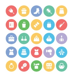 Fashion Colored Icons 6 vector