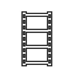 film strip linear icon vector image