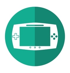 Game console portable play device shadow vector