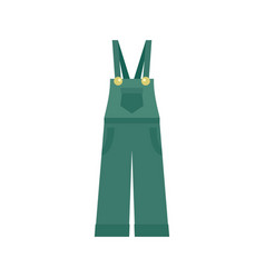 Garden worker clothes icon flat style vector