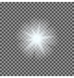 glowing light bursts with sparkles on vector image vector image
