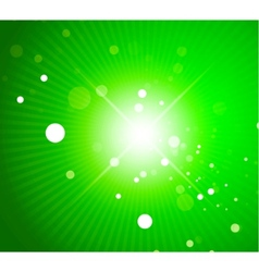 Green shiny abstract background vector