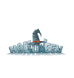 halloween holiday header vector image