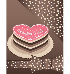 heart cake with chocolate vector image