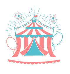 Icon of the circus tent for logo vector